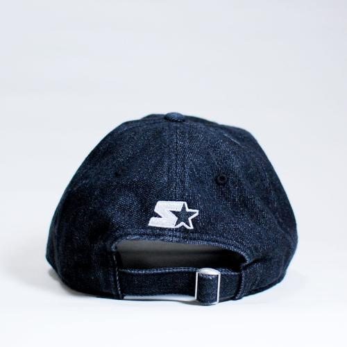 369c569a Baseball Starter Black Label Logo Snapback Black/Blue Flat Baseball Cap